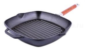 Сковорода-ГРИЛЬ БИОЛ 26*26см со съемной ручкой без крышки 1026
