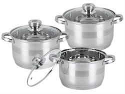 Набор посуды Bohmann BH 06-375 6пр. нерж. - фото 6029