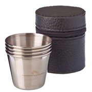 Набор стаканов 123-008/ ЧИНГИСХАН 4шт.*50мл. в чехле металл