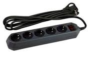 Фильтр сетевой ЭРА USF-5es-3m-B/Б0019034 черный