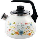 Чайник Appetite Floral kitchen со свистком 3л 4с209я