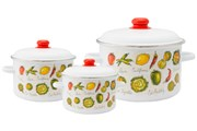 Набор посуды Appetite Гратен 3 предмета №19 1KB191M эмаль