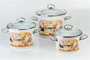Набор посуды Idilia Поварской I1500/повар 3 предмета стеклянная крышка