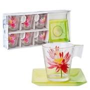 Сервиз чайный Luminarc Water Flower 220мл E8131