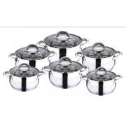 Набор посуды Wellberg AVENTO WB-1412 12 предметов AVENTO нержавеющая сталь