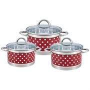 Набор посуды RAINSTAHL Red RS\CW-1626-06 6 предметов капсульное дно