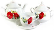 Сервиз чайный Добруш 14 предметов Кирмаш 9С0623 Мак