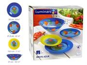 Сервиз столовый Luminarc Melys Azur 19 предметов J9127 46704 N8510 синий/желтый