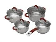 Набор посуды TalleR TR-7150 Милфорд 8 предметов полировка матовая