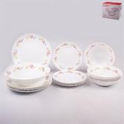 Набор посуды MILLIMI Диана 818-095 опаловое стекло 19 предметов