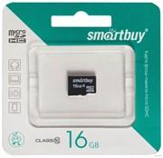 Карта памяти Smartbuy micro SDHC 16Gb Class10 с адаптером