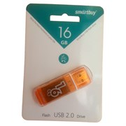 Накопитель USB Smartbuy Glossy series Orange 16GB