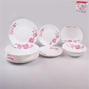 Набор посуды MILLIMI Инесса 818-089 13 предметов опаловое стекло