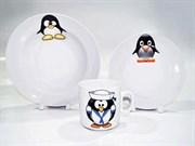 Набор детский Добруш Пингвинчики 6С2552 3 предмета
