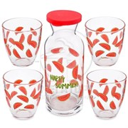 Набор питьевой Pasabahce Джангл АРБУЗ PSB 96723 декантер+4 стакана