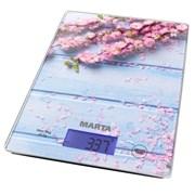 Весы кухонные Marta МТ-1633 весенние цветы