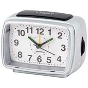 Будильник HOMESTAR 003797/HC-04 прямоугольный  серебро белый