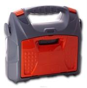 Кейс для инструмента с органайзером ПЦ 3716 серо-свинцово-оранжевый
