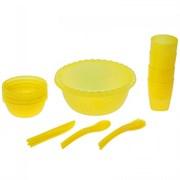Набор для пикника Радиан 10193015 желтый 4 персоны