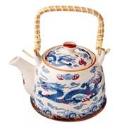Чайник заварочный MILLIMI Восточный дракон 824-869 900мл с бамбуковой ручкой