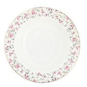 Тарелка MILLIMI Пастораль  821-741 суповая  21,5*4,5 см. костяной фарфор