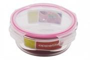 Контейнер Appetite SL950CF круглый 950 мл. с клапаном стекло розовый