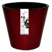 Горшок для цветов ПЦ Фиджи 1554ШОК 4л диаметр 200 мм.  шоколадный