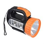 Фонарь ЧИНГИСХАН 223-001 1 LED + 2 LED 1+2 Вт 3xАА 12х10х5 см. пластик