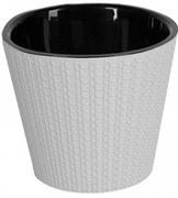 Горшок для цветов ПЦ Ajur ING6192БЛ  диаметр 200мм 4л белый