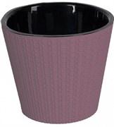 Горшок для цветов ПЦ Ajur ING6193СЛ  диаметр 230мм 5л сливочно-сливовый