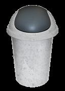 Корзина ПЦ 2547 для мусора круглое 10л мрамор