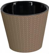Горшок для цветов ПЦ  Ajur  ING6193МШОК диаметр 230мм 5л молочный шоколад