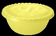 Миска ПЦ Фазенда 2350 с крышкой 6.0 л желтый прозрачный