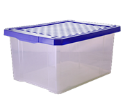 Ящик ПЦ Optima 2572 для хранения  17л синий лего
