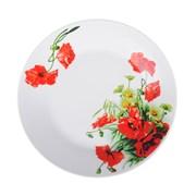 Тарелка десертная Красный мак 821-014 19 см