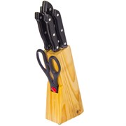 Набор ножей ZP 803-104 7 предметов в деревянной подставке