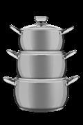 Набор посуды Verloni VL-ST4I6S97 сталь
