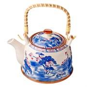 Чайник заварочный MILLIMI Этно 824-871 900мл с бамбуковой ручкой