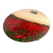 Весы Home Element HE-SC908 напольные красные маки