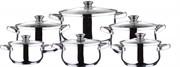 Набор посуды Wellberg WB-1646 12 предметов, нержавеющая сталь