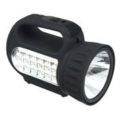 Фонарь ЧИНГИСХАН 198-041 с подзарядным устройством 1+18 LED черный