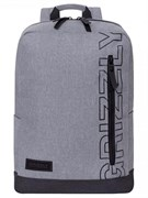 Рюкзак молодежный GRIZZLY 28х42х12 см, полиэстер,  RQ-013-3/1 серый