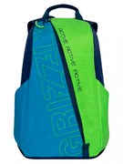 Рюкзак молодежный GRIZZLY 29х43х14 см, жатка, синий/салатовый, RQ-910-1