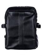 Рюкзак подростковый 34х26х15 см, 2 отделения, потайной карман, иск.кожа, черный, дизайн 1, 254-207