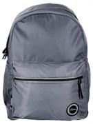 Рюкзак подростковый 40х28х16 см, 1 отделение, 3 кармана, гладкий нейлон, серый, 254-201