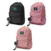 Рюкзак подростковый 40х30х12 см, 1 отделение, 1 карман, вельвет, в ассортименте, 254-319