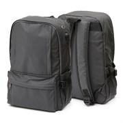 Рюкзак подростковый 41х29х11 см, 1 отделение, 4 кармана, черный, 254-352