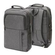 Рюкзак подростковый 42х29х12 см, 1 отделение, 5 карманов, серый, 254-365