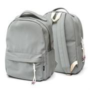 Рюкзак подростковый 42х30х13,5 см, 1 отделение, 1 карман, серо-зеленый, 254-327