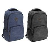 Рюкзак подростковый 45х30х14 см, 2 отделения, 3 кармана, кожзам, в ассортименте, 254-291